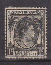 (K109-124) 1937 Malaya 1c black KGVI (EK)