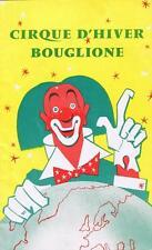 Circus. Programme. Bouglione. Cirque d'hiver Bouglione. Année 60