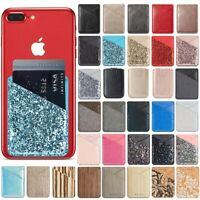 Universal Adhesive Sticker Pouch Credit Card Holder Pocket Sleeve for Cell Phone