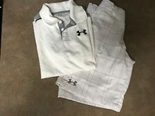 Kids Boys Under Armour Shirt & Shorts Outfit White & Gray Size YMD (CON15)