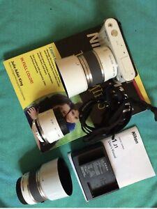 Nikon 1 J1 101 White Camera Lens Bundle Set, Excellent Condition, 8+  In Bundle