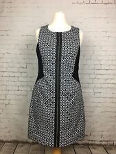 Women's RIVER ISLAND Black White Short Sleeveless Dress - Size 14