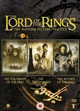 LORD OF THE RINGS Trilogy DVD Complete Collection Box Set Part 1+2+3 UK Region 2