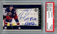 "2005-06 Trilogy Personal Scripts RICK NASH On-Card Auto w/""1st Pick 2002"" PSA 9"