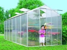 NEW SUNOR 1.9m * 3.7m ALUMINIUM POLYCARBONATE GARDEN GREENHOUSE