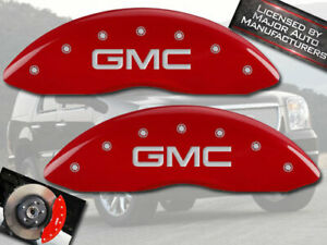 "1992-2000 ""GMC ""Yukon Front Red Engraved MGP Brake Disc Caliper Covers 2pc"