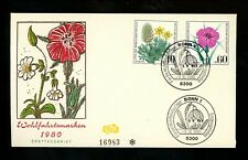 Postal History Germany Fdc #B577-B580 Set Of 2 Woodland plants flowers 1980