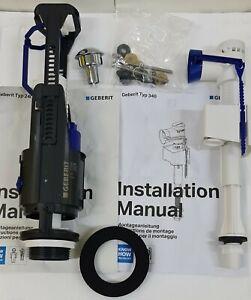 GEBERIT Typ 240 Cistern Flush Pk , DUAL Flush Valve & Inlet Valve , 236.723.21.2