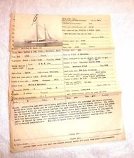 YACHT SPEEJACKS FOR SALE HENRY GIELOW INC.  PICTURE BLUEPRINT c.1926