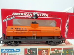 """1995 American Flyer Orange """"SHELL"""" Tank Car-#48405 by Lionel. Read On-See Photos"""