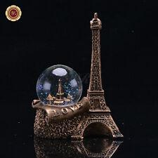WR Water /Snow Globe Glitter Paris Landmark Eiffel Tower Love Girl Birthday Gift