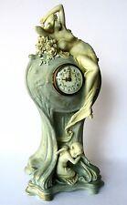 Art Nouveau Porcelain Figural Mantle Clock by Ernst Wahliss