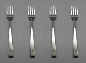 Oneida Stainless EASTON (GLOSSY) Salad Forks - SET OF FOUR * USA