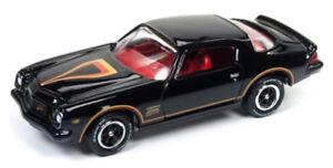 1/64 JOHNNY LIGHTNING 1977 Chevrolet Camaro in Gloss Black