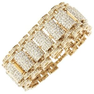 ICED Bling Hip Hop Diamond Bracelet - KING gold