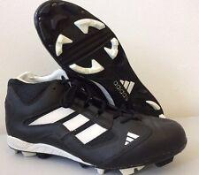 Adidas Vintage Football Boots Black Leather Unused PRB0698 1997 UK 11.5 T11