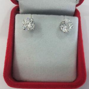 Real 1.00 Ct Diamond Solitaire Diamond Earrings Stud 950 Platinum Real Earrings