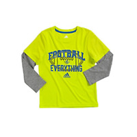 """New Adidas Little Boy's  """"Football Is Everything"""" T-Shirt SIZE 4 MSRP:24.00"""