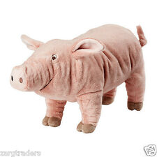 IKEA KNORRIG Soft toy pig plush pink and cuddly, perfect for kids 602.604.48