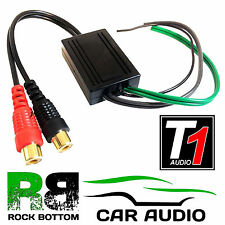T1 Audio T1-601 High to Low Level Rear Car Speaker to RCA Amp Line Out Converter