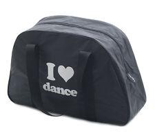 Filles garçons noir I LOVE école de danse grand sac épaule par Katz Dancewear kb59