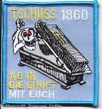 """Anti 1860 Aufnäher """"Tschüss 1860"""" für die Fan Kutte"""