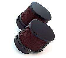Set of 2 Black & Red Oval Air Filters - 54mm - Honda CB/CM400/450 CX/GL500/650