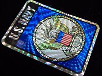 Vintage 1970s -80s Foil USN NAVY Eagle Military Decal Sticker QUALITY MINT