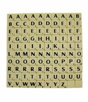 Vintage Plastic Scrabble Letters Square Back - Select your letter for game/craft