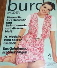 Burda Moden 04/1970 JERSEY Kostüm KLEID MIEDER Häkel-Bikinis vintage 70er APRIL