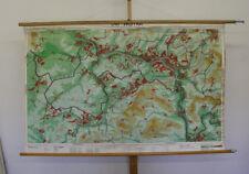 Murs Carte Sarre Sarrebruck des rappelée Vintage Wall Map 173x109cm ~ 1960