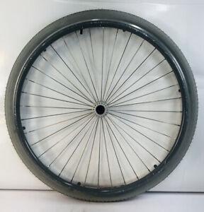 "ONE 24"" Sunrim CR20 36 Spoke Wheelchair Wheel w/ Hand rim NO AXLE Single Wheel"