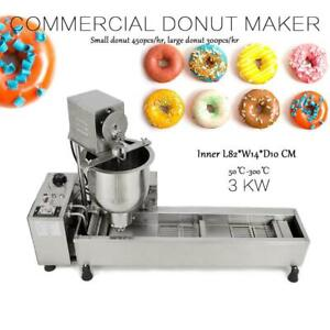 UK Electric Donut Maker Machine Commercial Doughnut Auto Fryer Nonstick Donuts