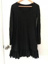 Metalicus merino wool black dress great condition