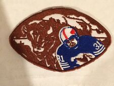 """Buffalo Bills CLASSIC vintage embroidered iron on  patch 4."""" x 2.5"""" RARE NICE"""