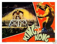 KING KONG LOBBY SCENE CARD # 3 POSTER 1933 FAY WRAY