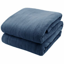 New listing Pure Warmth MicroPlush Electric Heated Blanket Twin Blue
