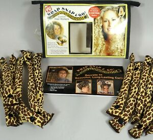 Wrap Snap and Go Comfort Curlers Set of 12 Leopard Hair Rollers As Seen on TV