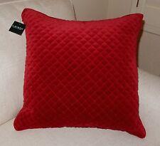 NWT RALPH LAUREN 20x20 Red Diamond Velvet Throw Decor Pillow NEW