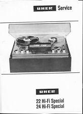 Uher Service Manual für 22 - 24 HiFi - Special Copy