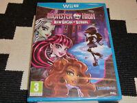 MONSTER HIGH NEW GHOUL IN SCHOOL NINTENDO Wii U NEW SEALED