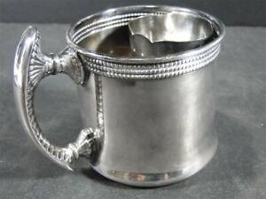 Rare 1892 Gorham Aesthetic Silverplate Soldered SHAVING MUG – Fancy Mono