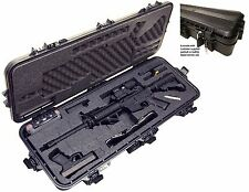Tactical AR-15 Gun Rifle Hard-Sided Club Case Lockable Waterproof Accessory Box