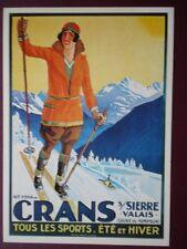 POSTCARD SWITZERLAND CRANS TOUS LES SPORTS