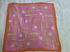 Liz Claiborne pink orange silk scarf square