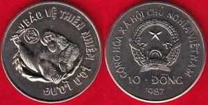 """Vietnam 10 dong 1987 km#28 """"Orangutan"""" UNC"""