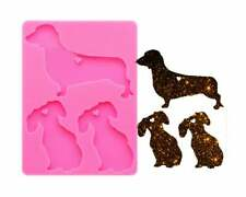 Dog Family Shiny Silicone Mold,Silicone Keychain Mold,DIY Keychain, Pendant mold