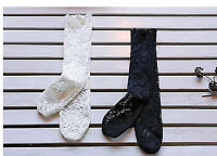 NEW Girl Children Kids Princess Lace Sweet School Dress shoes tights Socks 3-12y