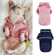 Pet Dog Cat Cotton Pajamas Jumpsuit Shirt Clothes For Small Medium Pet Apparel