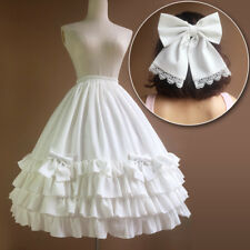 Lolita Princess Lace Bowknot Flouncing chiffon Crinoline Petticoat Skirt